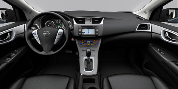 Interior do Nissan Sentra 2014