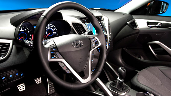 Interior do Hyundai Veloster