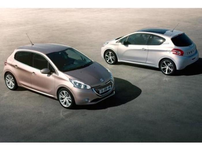 Peugeot Cinza e Prata 208